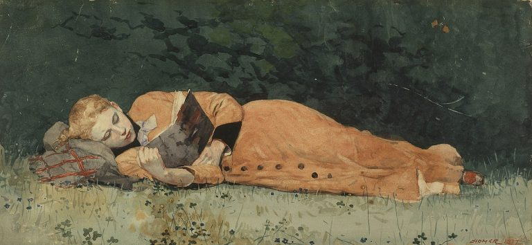Winslow Homer, The New Novel, 1877
