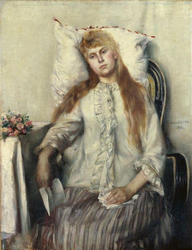 Lovis Corinth, Genesendes Mädchen, 1890