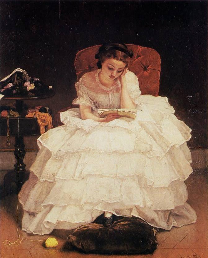Alfred Stevens (1823-1906), Girl Reading