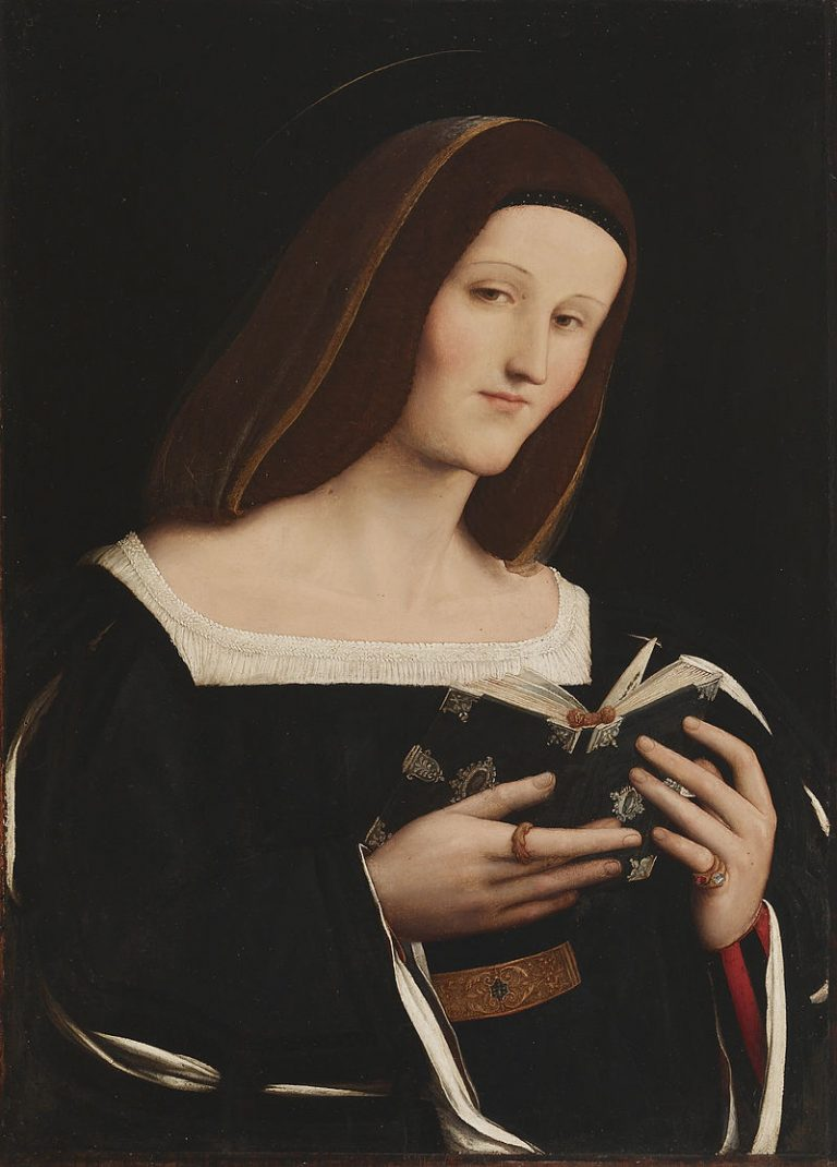 Amico Aspertini, Female Saint Holding A Book