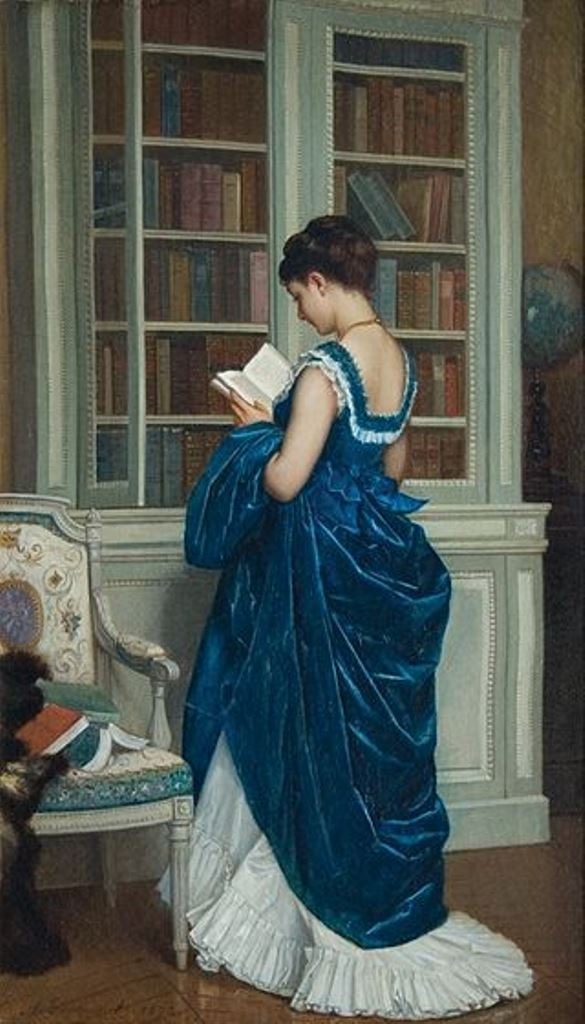 Auguste Toulmouche, Dans La Bibliothèque