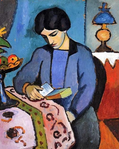 August Macke, Blue Girl Reading
