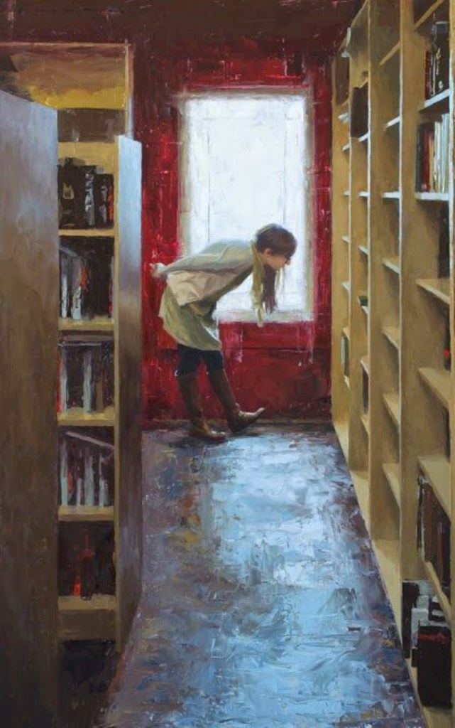 Casey Childs (b. 1974). The Bookstore