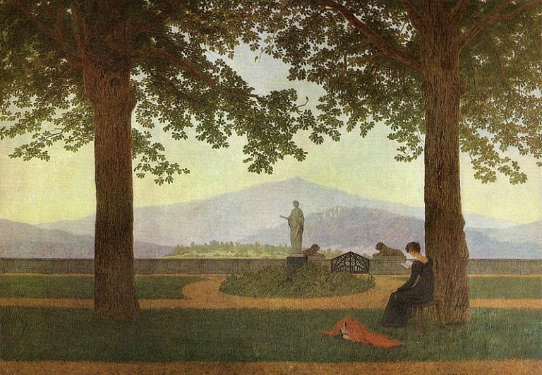 Caspar David Friedrich, The Garden Terrace