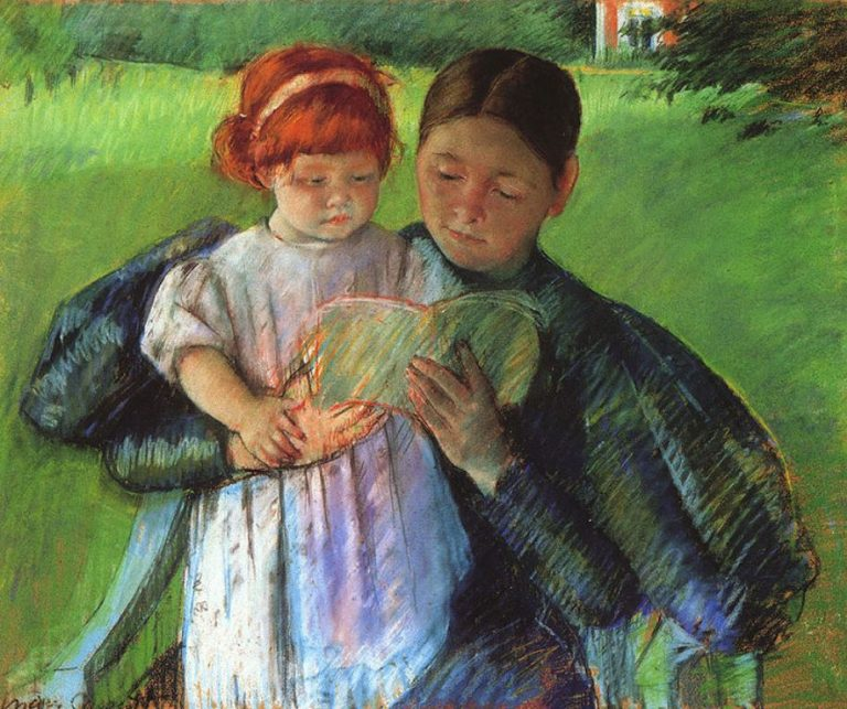 Mary Cassatt, Nurse Reading To A Little Girl, 1895