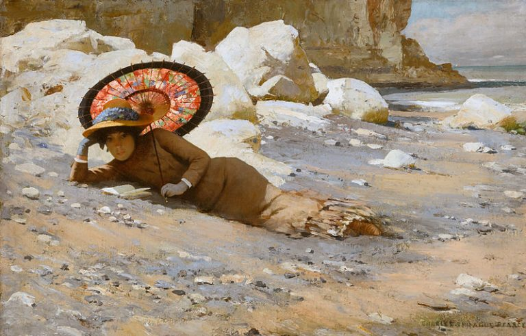 Charles Sprague Pearce, Reading By The Shore