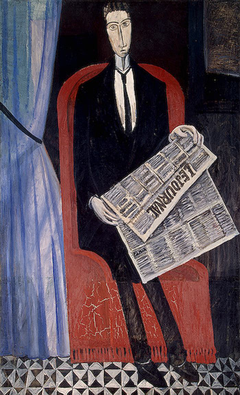 A. Derain, Portrait Of A Man With A Newspaper