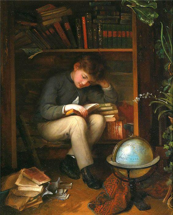 Eduard Swoboda, A Little Bookworm, 1902