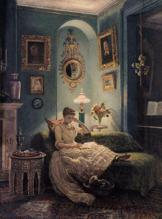 Edward John Poynter (1836-1919), An Evening At Home