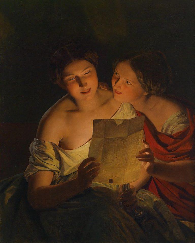 Ferdinand Georg Waldmueller, Der Liebesbrief
