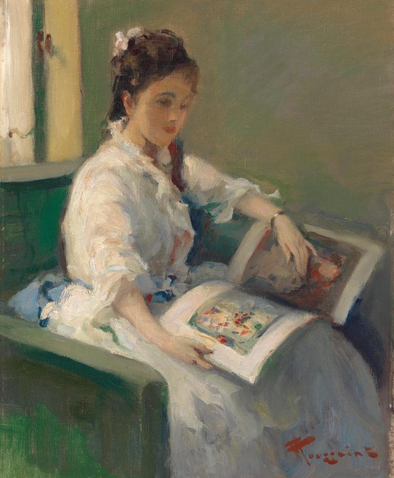 Fernand Toussaint, Girl Reading