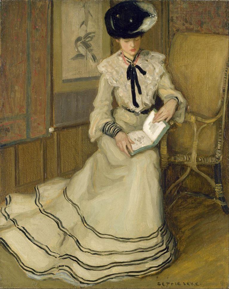 Frederick Carl Frieseke, Girl Reading