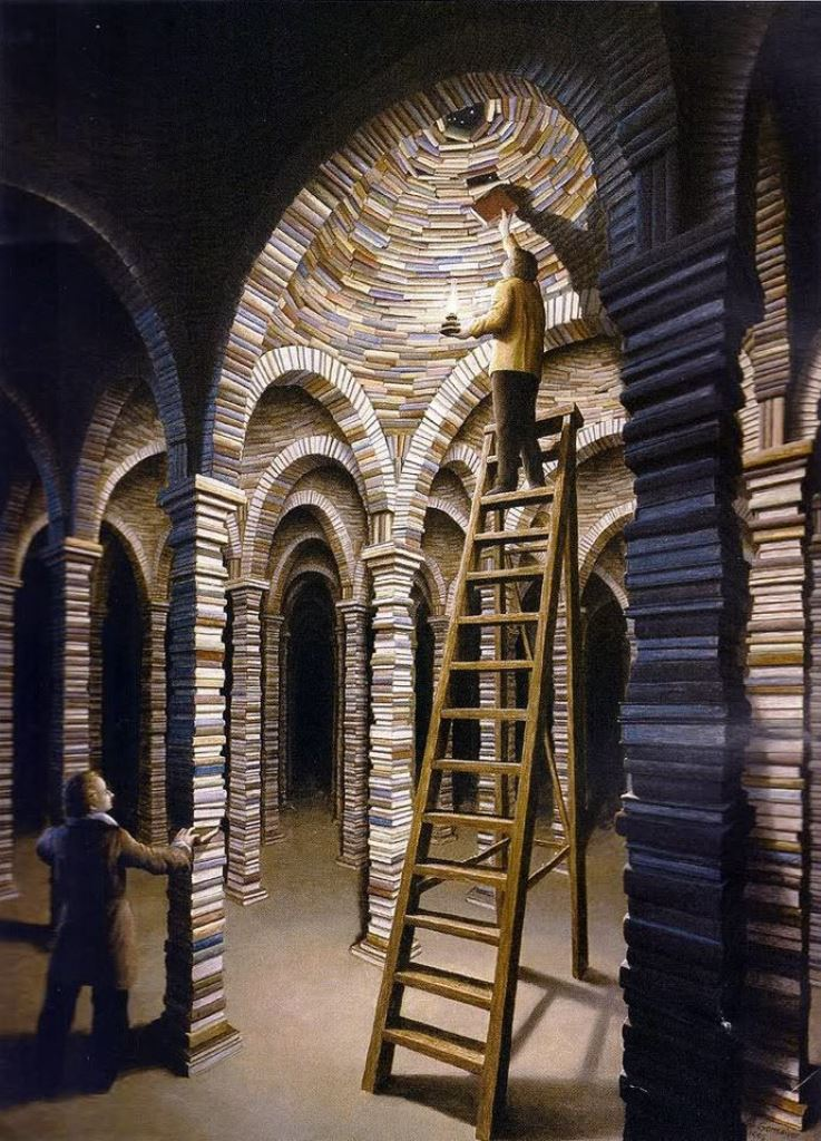 Rob Gonsalves, The library