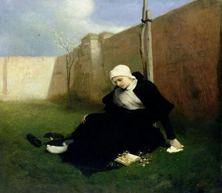 Gabriel Cornelius Ritter Von Max, The Nun In The Cloister Garden, 1869