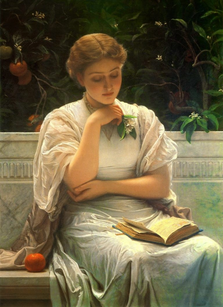 Charles Edward Perugini, Girl Reading