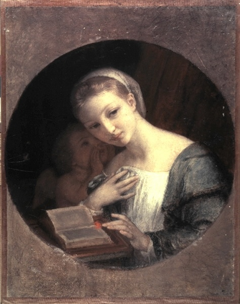 C. Gleyre, Madchen Und Amor