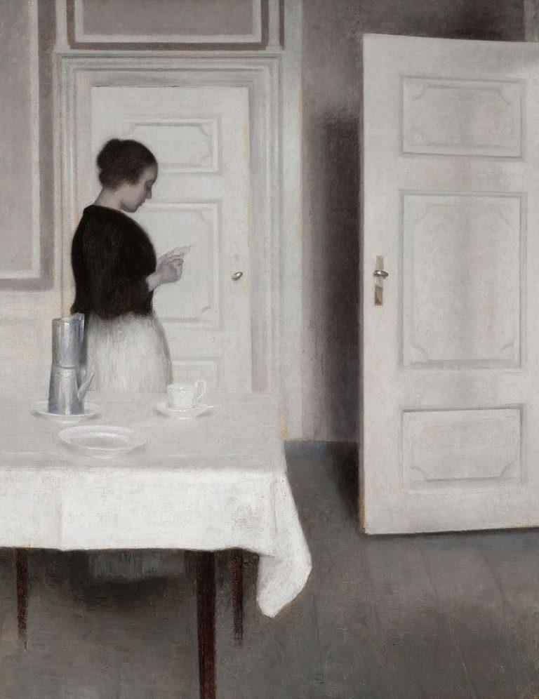 W. Hammershoi, Ida Reading A Letter