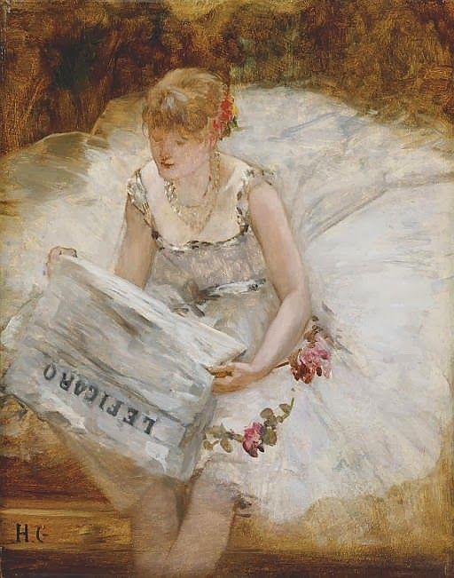 Henri Gervex, Ballerine Lisant Le Figaro