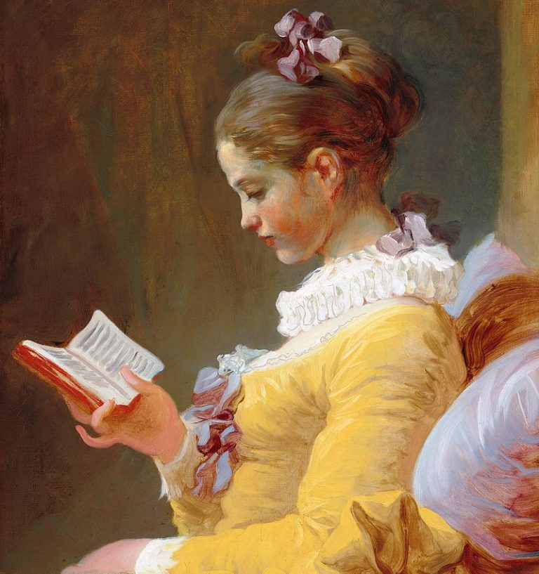 J. H. Fragonard, The Reader (detail)