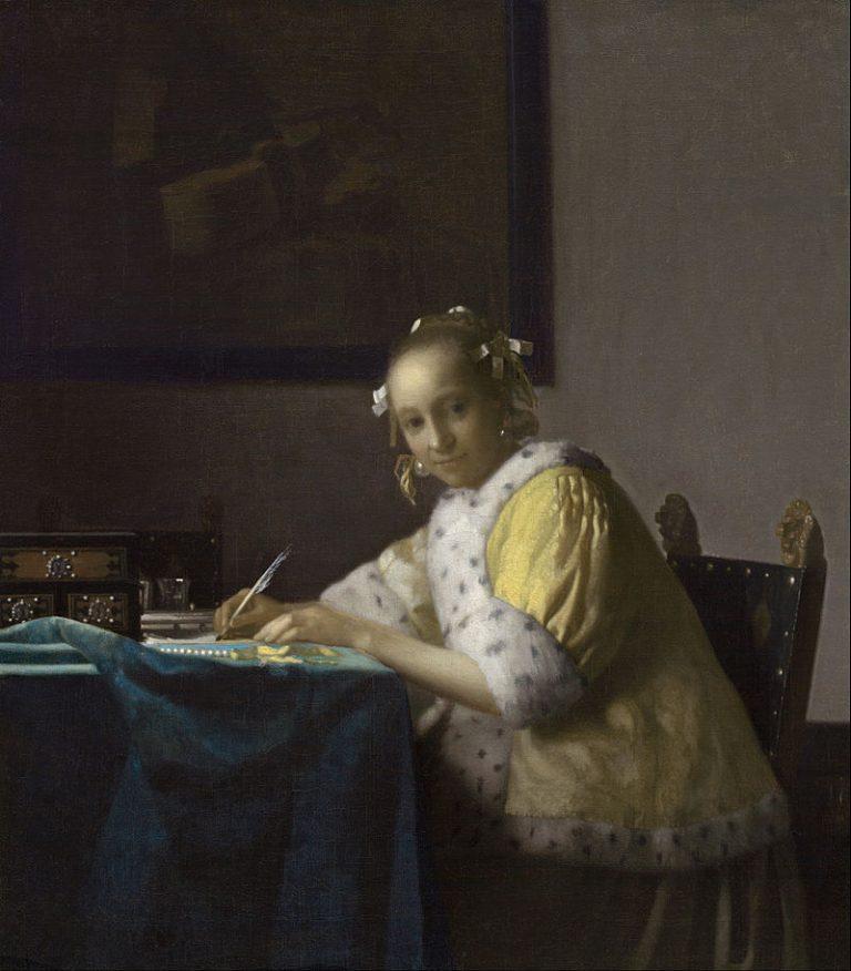 Johannes Vermeer, A Lady Writing