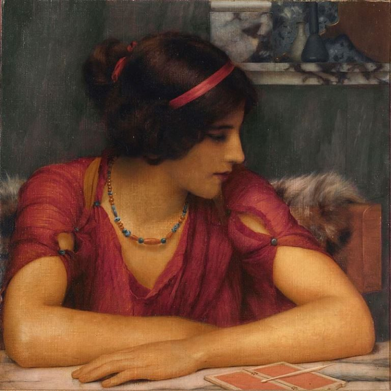 John William Godward, The Letter (A Classical Maiden)