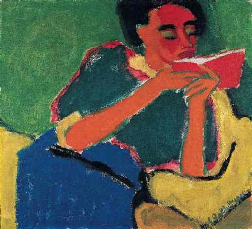 Karl Schmidt Rottluff, The Reader, 1911