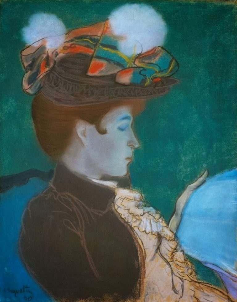 Louis Anquetin, Girl Reading A Newspaper