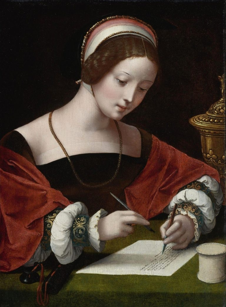 Master Of The Female Half Lengths, St Maria Magdalena Writing A Letter