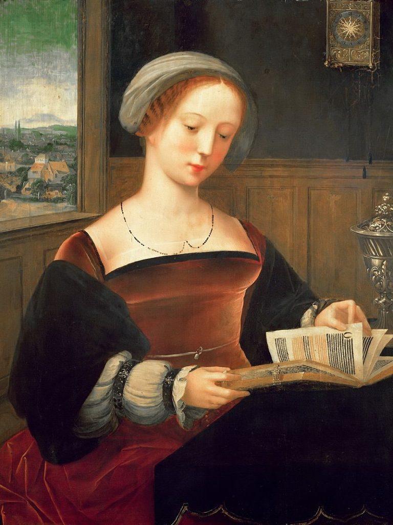 Master Of The Female Half Lengths, Sainte Madeleine Reading