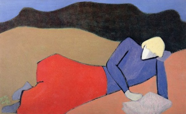 Milton Avery, Reclining Reader, 1950