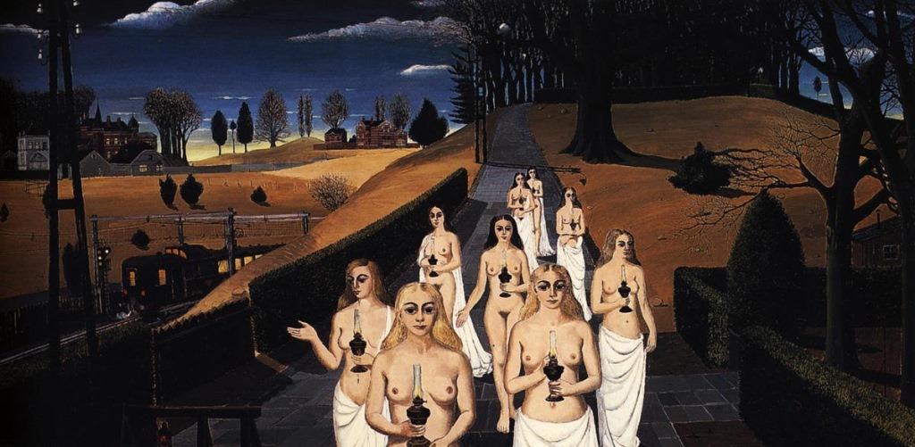 Paul Delvaux The Cortege 1963 Usato