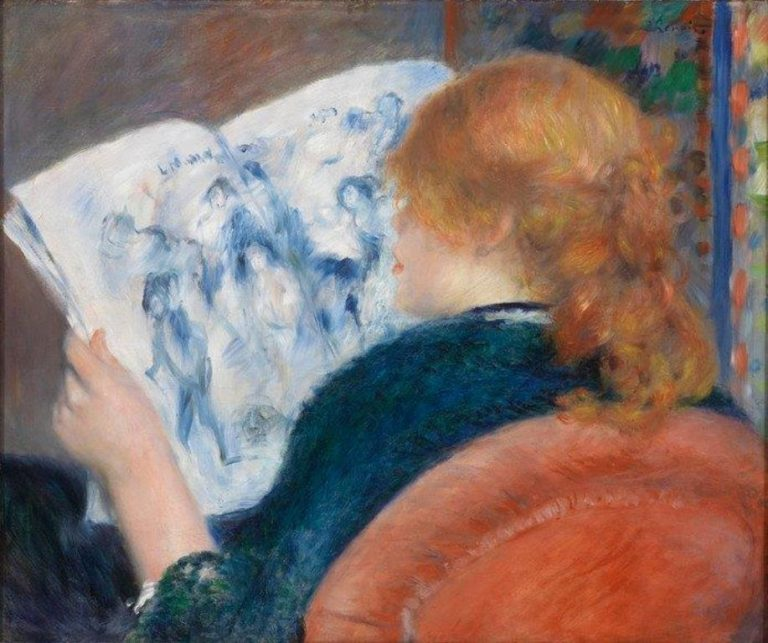 Pierre Auguste Renoir, Young Woman Reading An Illustrated Journal, 1880