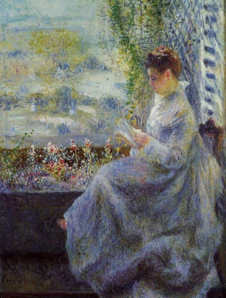 Pierre Auguste Renoir. Madame Chocquet Reading
