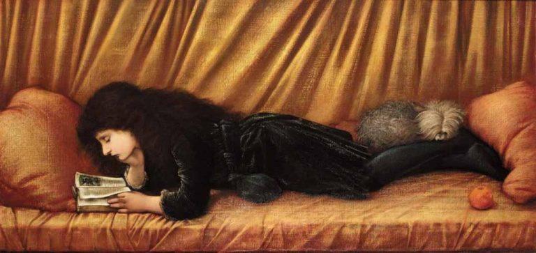 Frederic Leighton, Portrait Of Katie Lewis