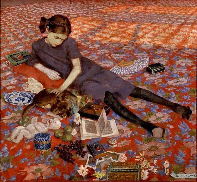 Felice Casorati, Ragazza sul tappeto