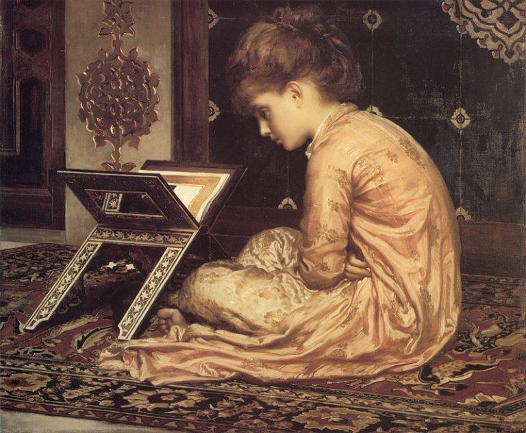 Frederic Leighton, Study At A Reading Desk (1877)