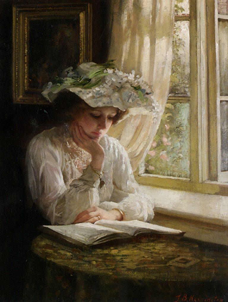 Thomas Benjamin Kennington, Lady Reading By A Window