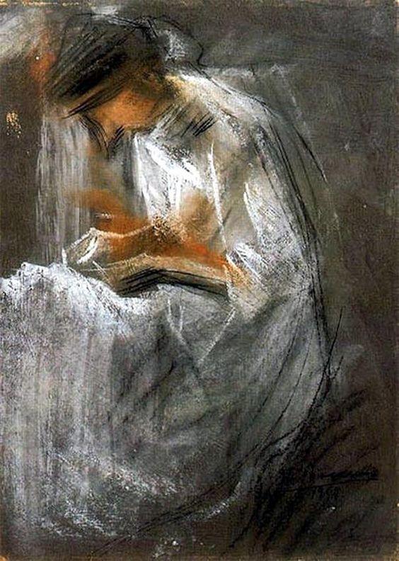 Umberto Boccioni, Young Woman Reading, 1909