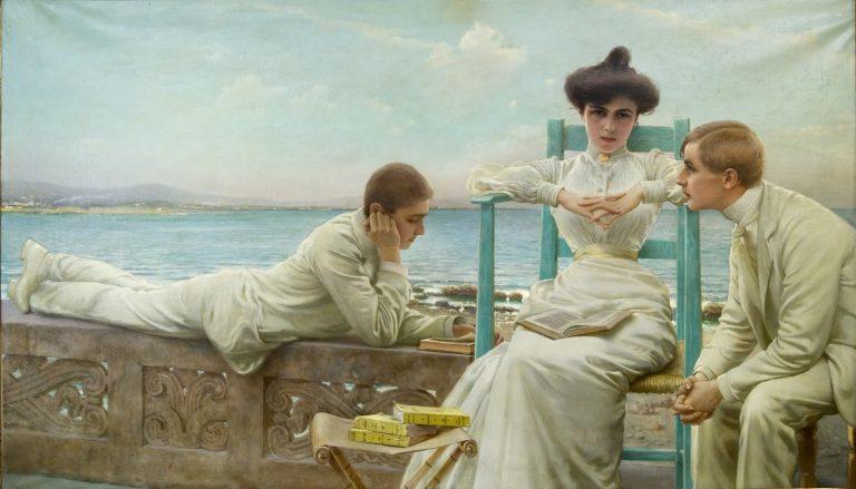 Vittorio Matteo Corcos, In lettura sul mare, 1910