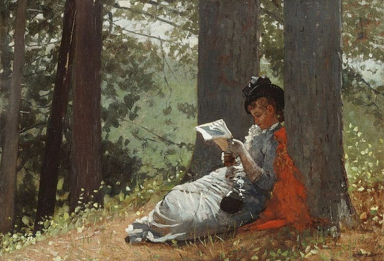 Winslow Homer, Girl Reading Under An Oak Tree (1879)