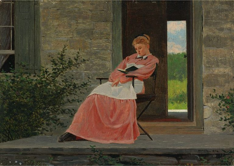 Winslow Homer, Girl Reading On A Stone Porch
