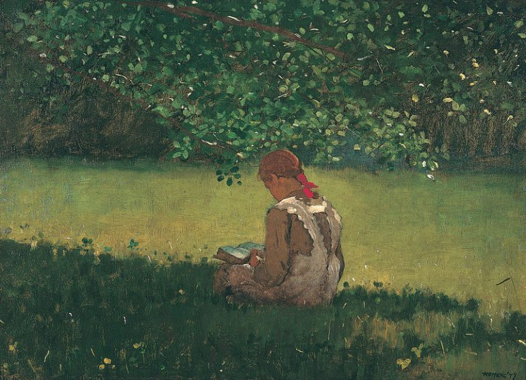Winslow Homer, Reading By The Brook, 1879