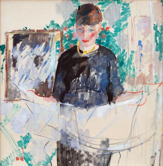Rik Wouters, Woman In Black Reading A Newspaper 1914