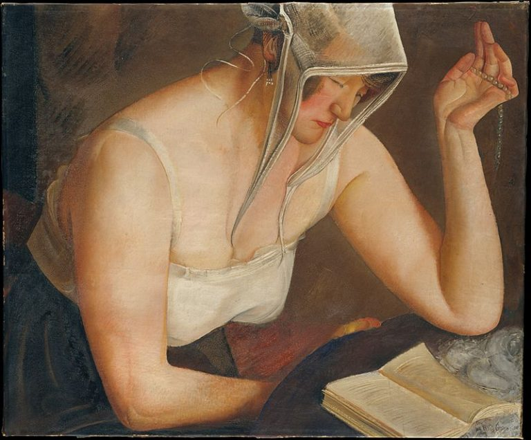 Boris Grigoriev, Woman Reading, 1922