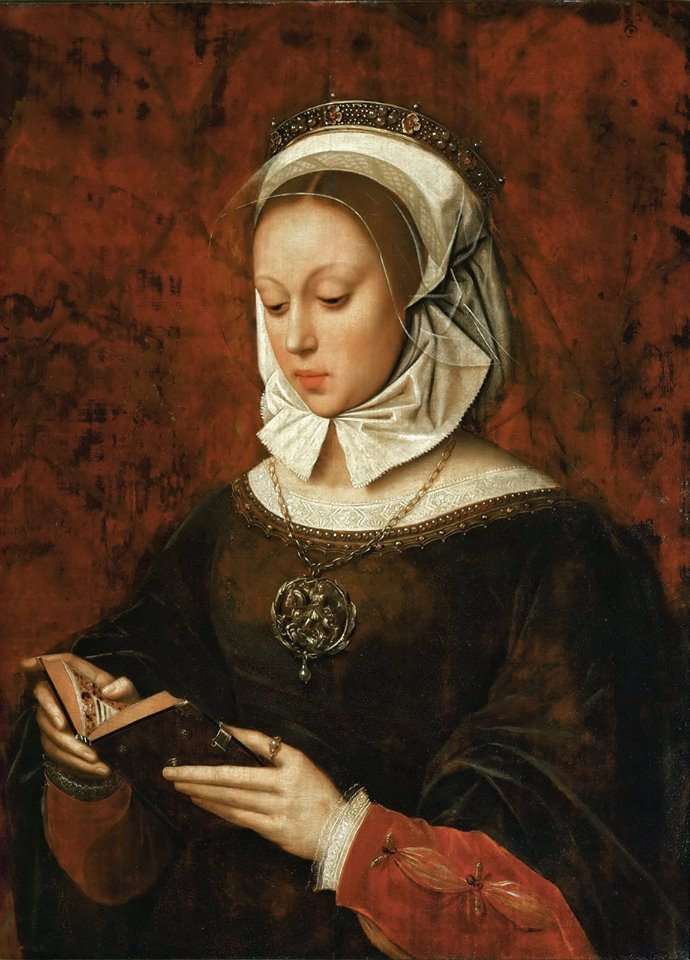 A. Benson, Young Woman In Orison Reading A Book Of Hours, 1520