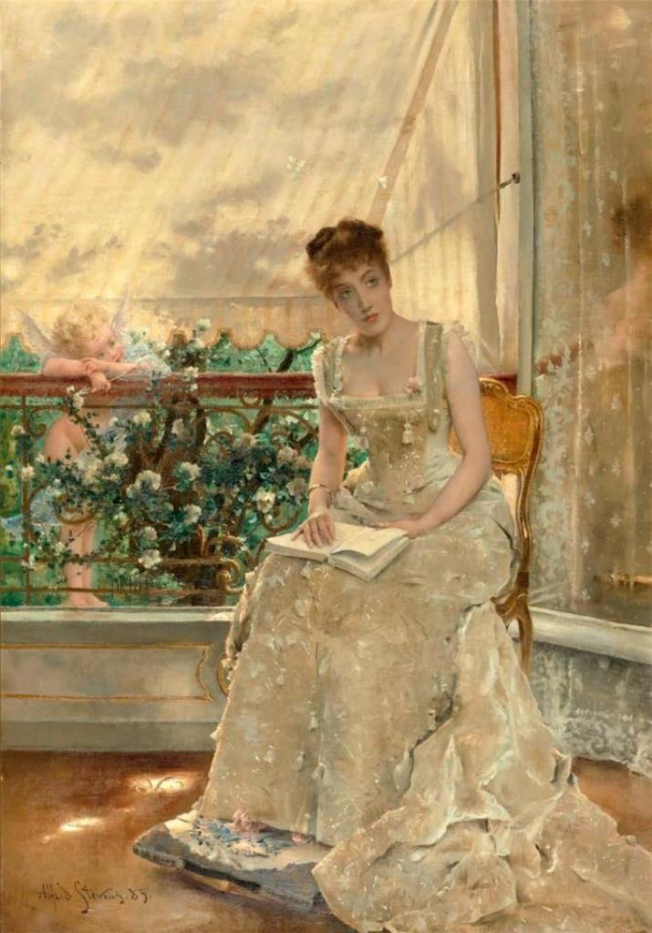 A. Stevens, La Femme Et L'amour, 1885