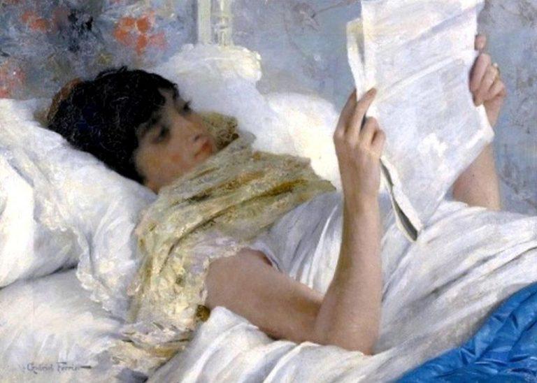 G. Ferrier, Woman Reading In Bed