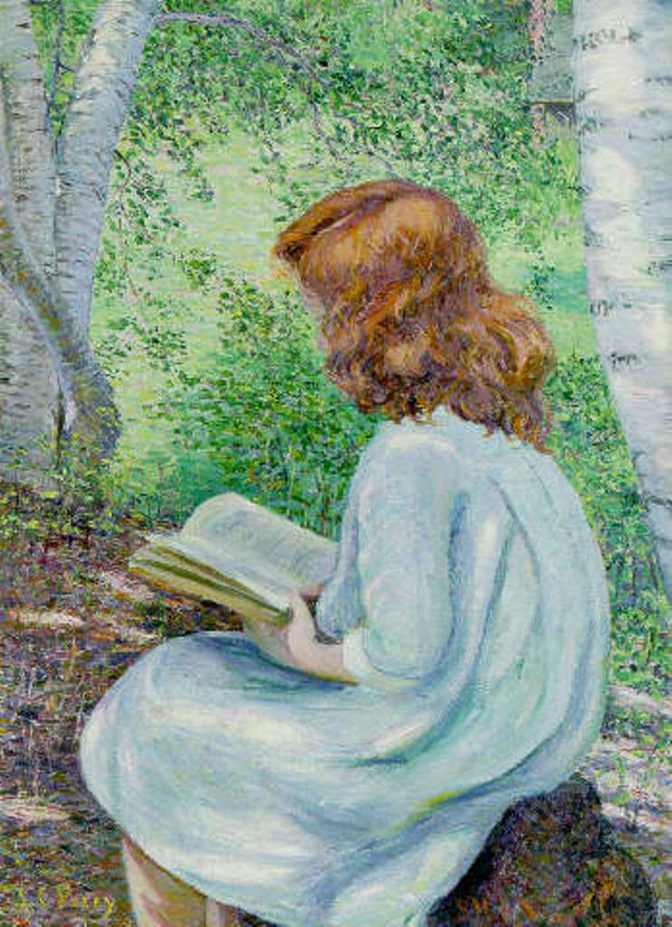 Lilla Cabot Perry,  Child With Red Hair Reading