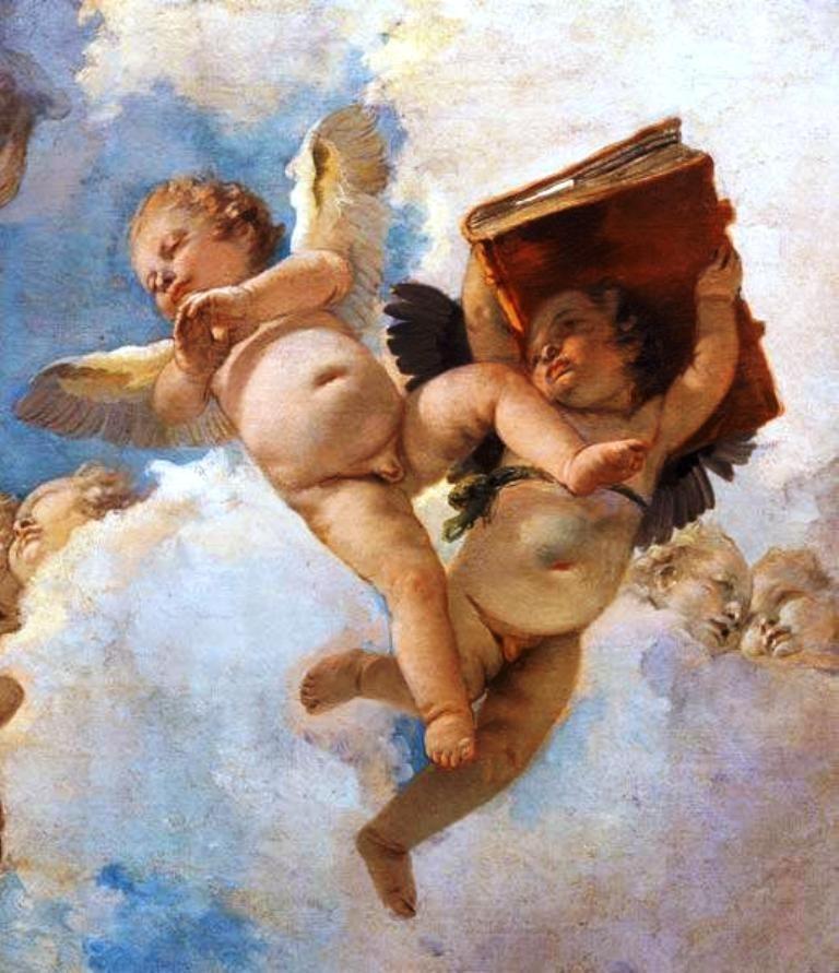 G.B. Tiepolo, Putto Con Libro