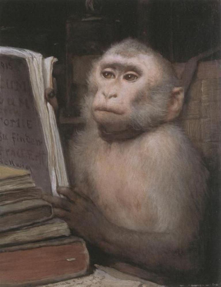 Gabriel Cornelius Ritter Von Max, Reading Monkey